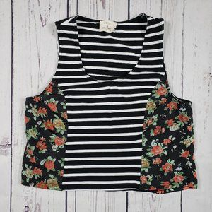 Pins and Needles Sleeveless Crop Top Size Small